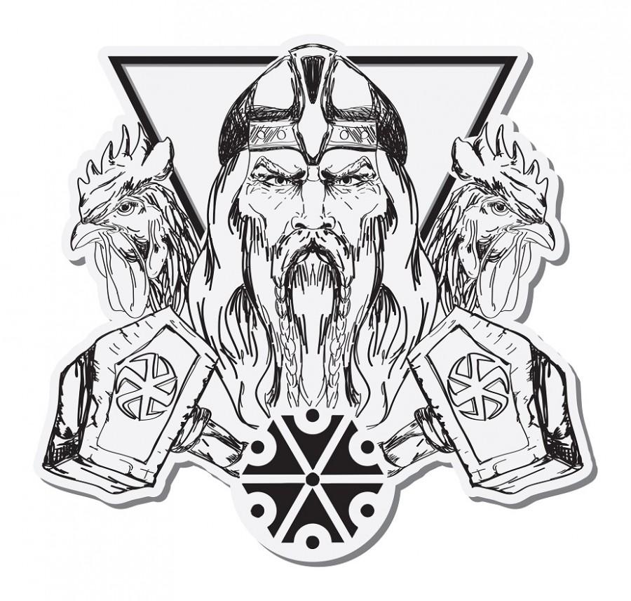 Vyobrazení boha Peruna - hromovládce