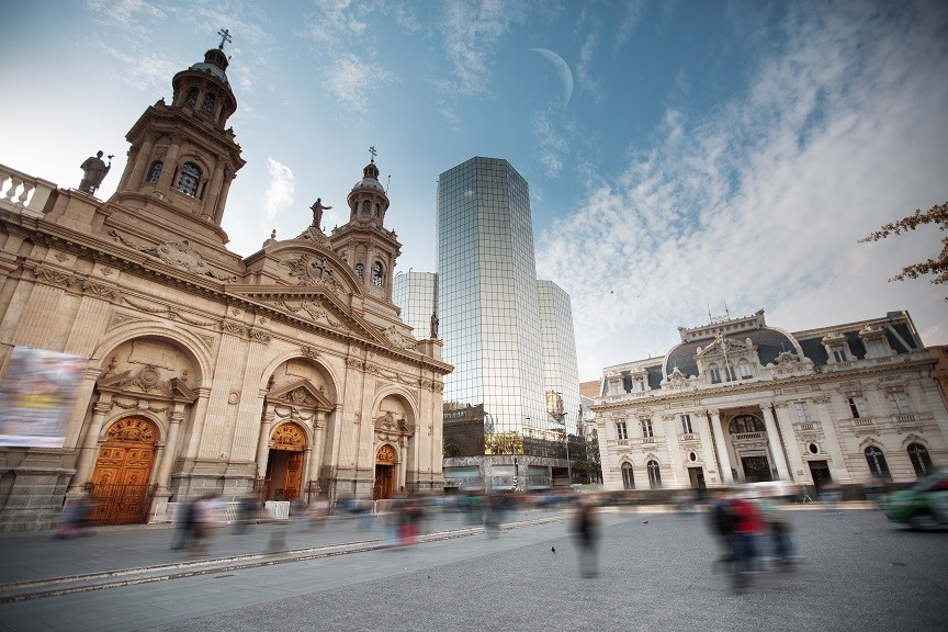 Nerudovo město - Santiago de Chile
