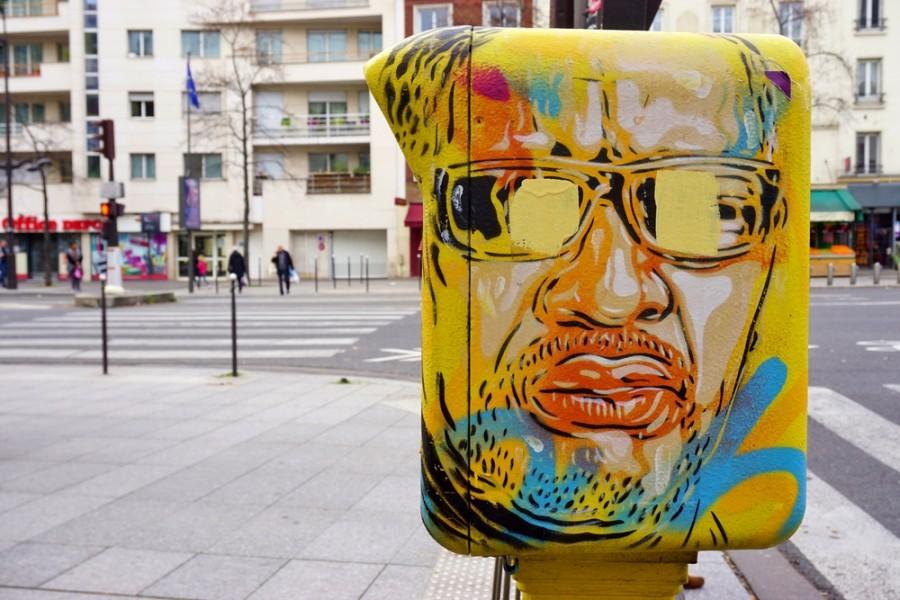 Ukázka pouličního umění v Paříži
