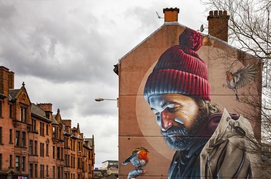 Pouliční umění - Mural Glasgow