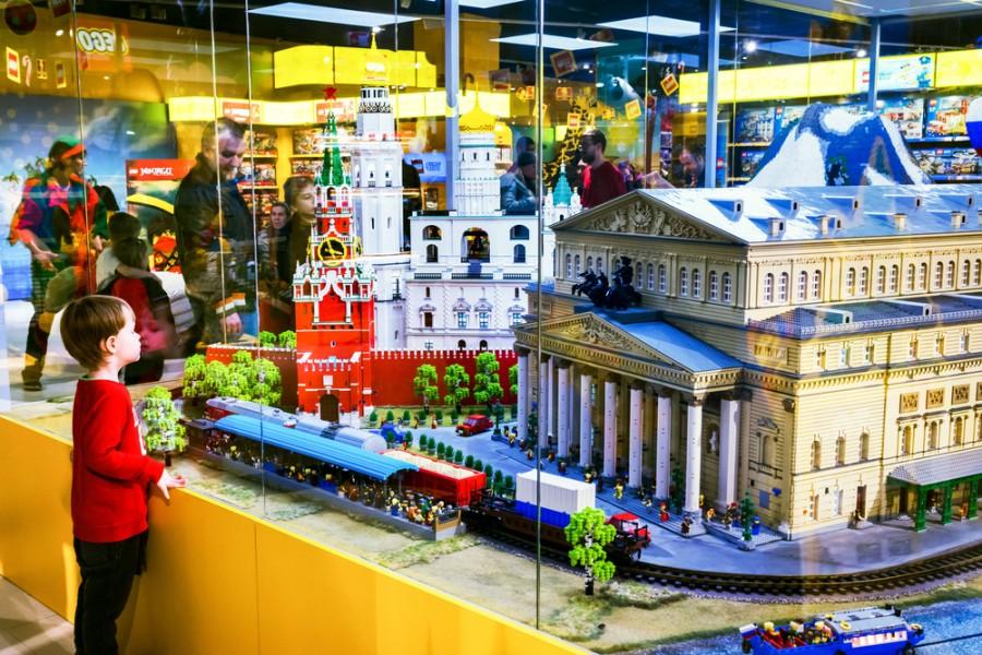 Lego stavba v Moskvě