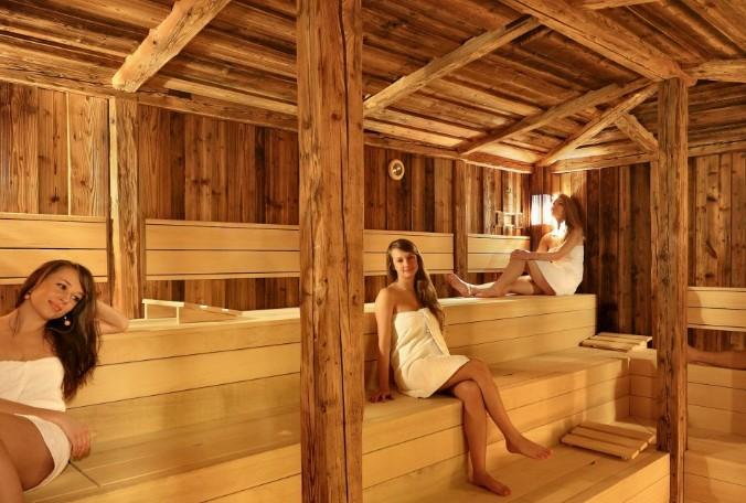 Sauna v hotelu Absolutnum