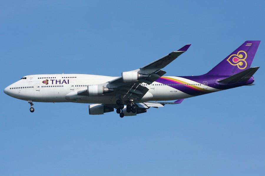 Thajský Boeing 747-400 (744)