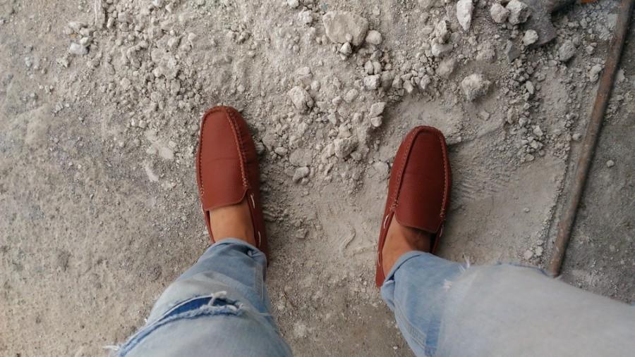 Bohužel, i takovéto boty je možné vidět v provozech či na stavbě
