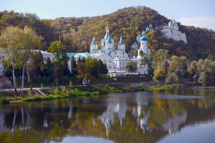 Krásné chrámy jsou na území Donbasu