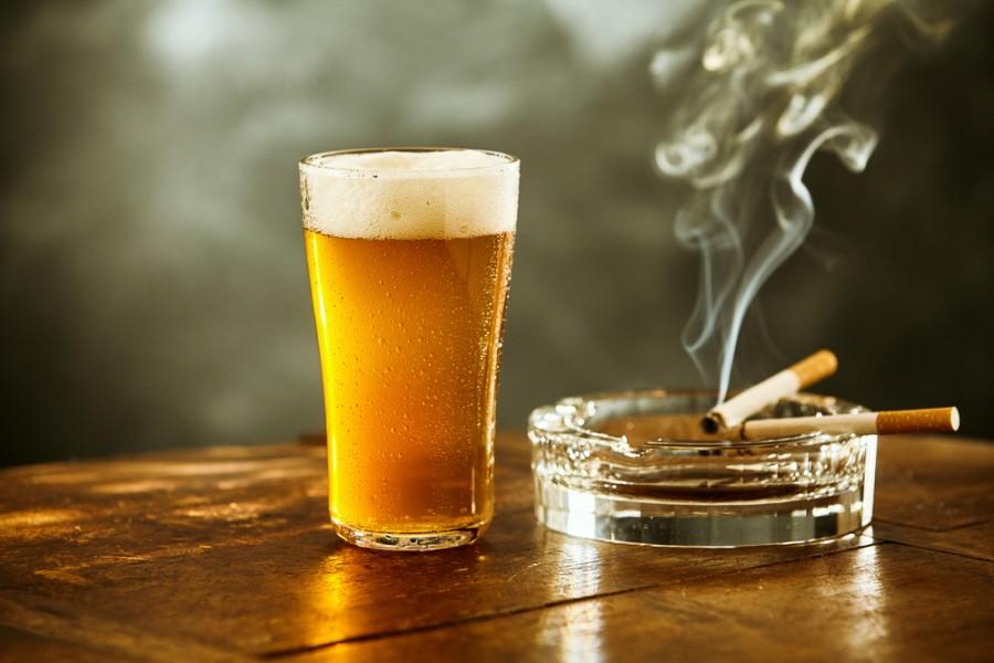 Pivo a cigareta