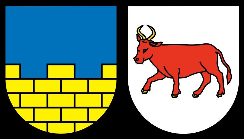 Znak Horní (vlevo) a Dolní Lužice